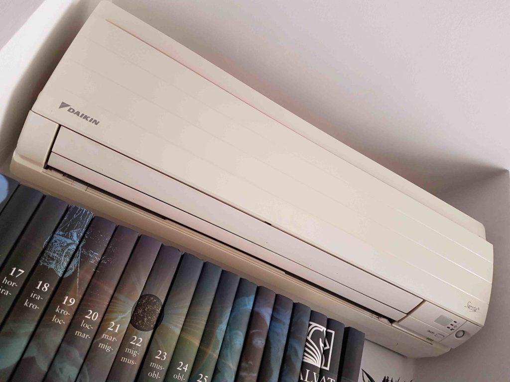instalación del aire acondicionado dos